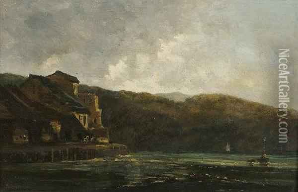 Continental Landscape Oil Painting - Francis Danby