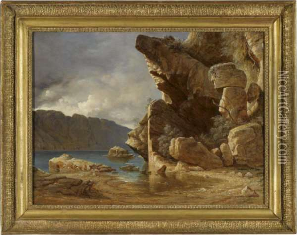 Liensfiord, Norway Oil Painting - Francis Danby