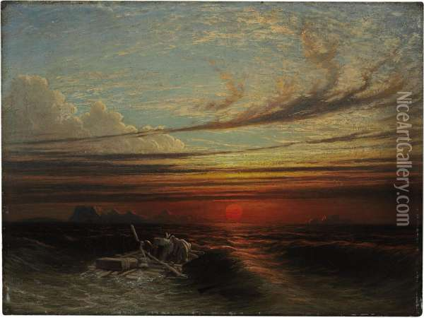 Sunset At Sea After A Storm Oil Painting - Francis Danby