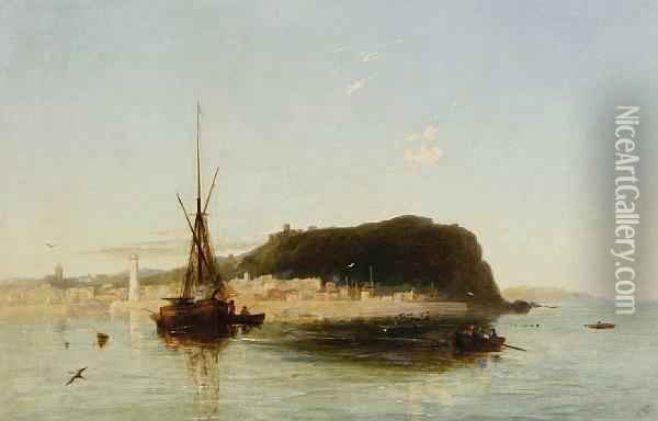 Evening Calm Oil Painting - Francis Danby