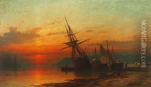 The Day's Catch Oil Painting - Francis Danby