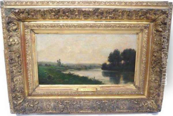 Bords De L'oise Oil Painting - Charles-Francois Daubigny