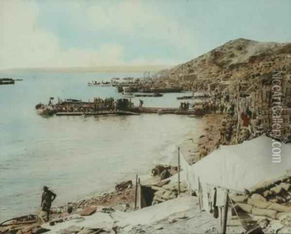 View Of Anzac Cove Oil Painting - William Dexter