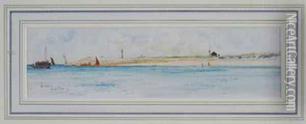 Off Hayling Oil Painting - Charles Edward Dixon