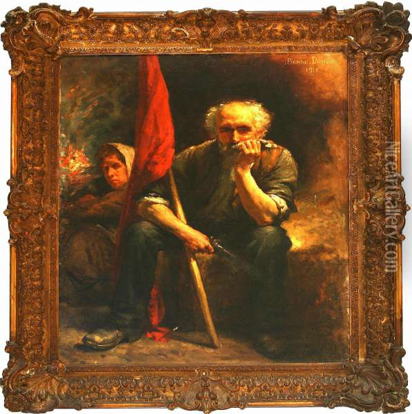 A French Revolutionarycouple Oil Painting - Pierre Dupuis