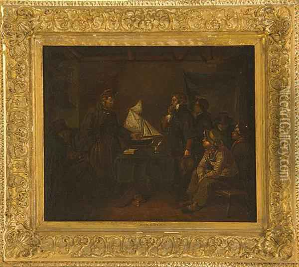 The Captains Tale Oil Painting - Augustus Leopold Egg