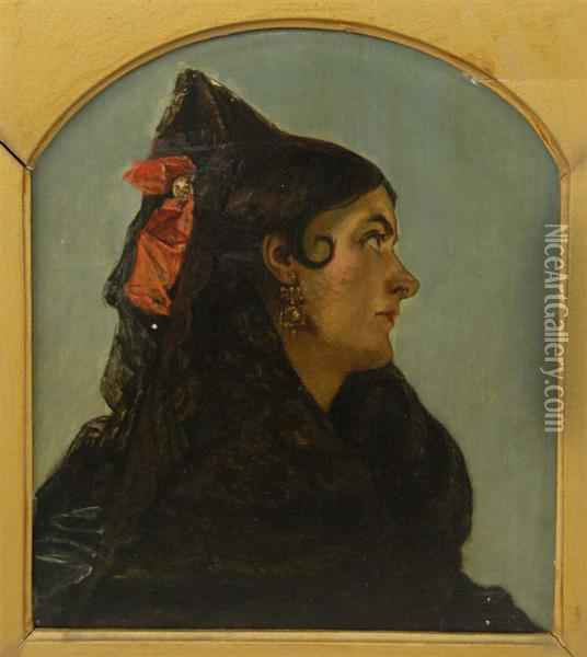 Spanish Lady Oil Painting - Augustus Leopold Egg