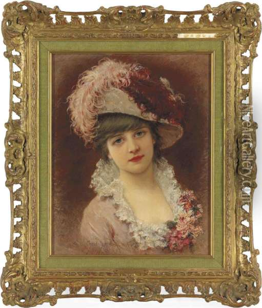 A Parisian Beauty Oil Painting - Eisman Semenowsky