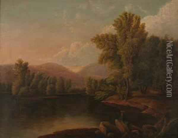 Untitled Landscape Oil Painting - Eliza Mary Eyre