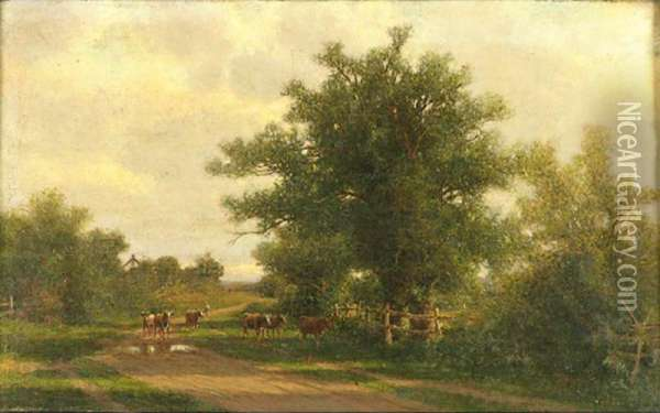 Epypt Lane, Southampton, Long Island, New York Oil Painting - Henry Ferguson
