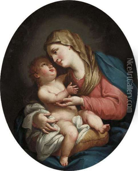 The Madonna And Child Oil Painting - Francesco Fernandi, Called L'Imperiali