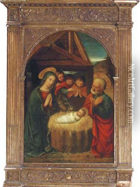 The Adoration Of The Shepherds Oil Painting - Gaudenzio Ferrari
