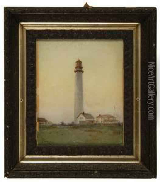 Lighthouse And Station Oil Painting - Jean-Leon Gerome