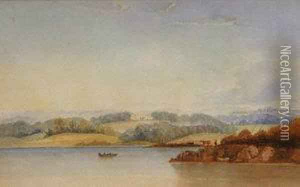Picton Castle South Wales Oil Painting - Anthony Vandyke Copley Fielding