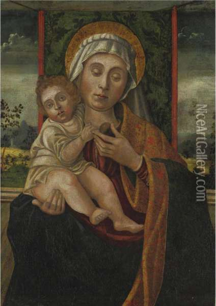 Madonna And Child Oil Painting - Vincenzo Foppa
