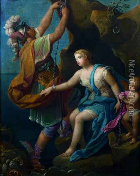 Persee Delivrant Andromede Oil Painting - Nicolas Fouche