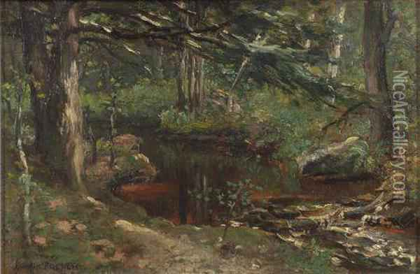 Woodland Brook Oil Painting - Frank French