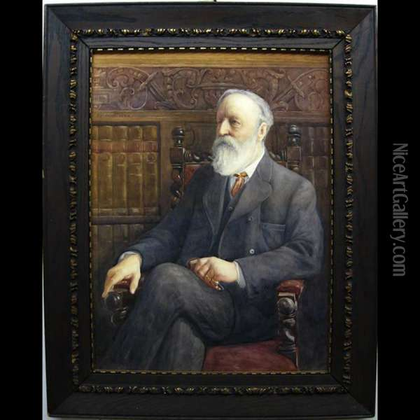 Portrait Of Walter Redford Bulwer Oil Painting - Thomas William Roberts