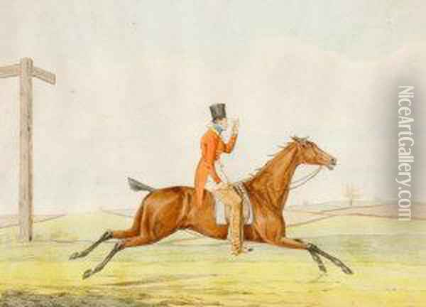 How To Go To Cover; How To Ride Down Hill Oil Painting - T. Fuller