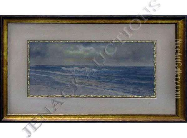 Sailboats Off LongIsland Oil Painting - George Howell Gay