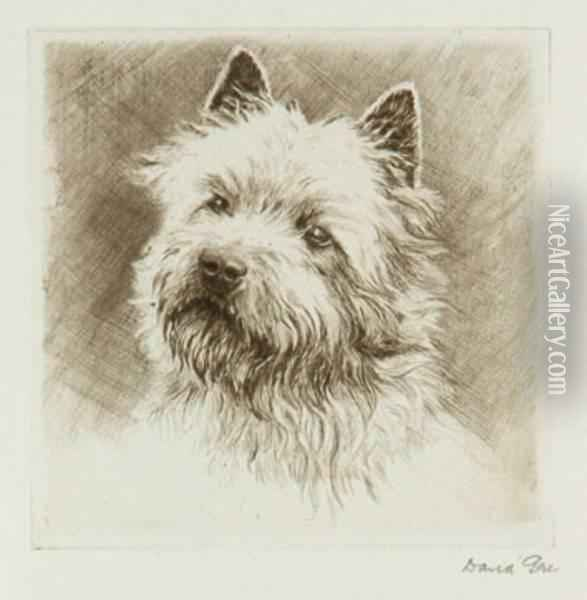 Portraits Of Dogs Oil Painting - David Gee