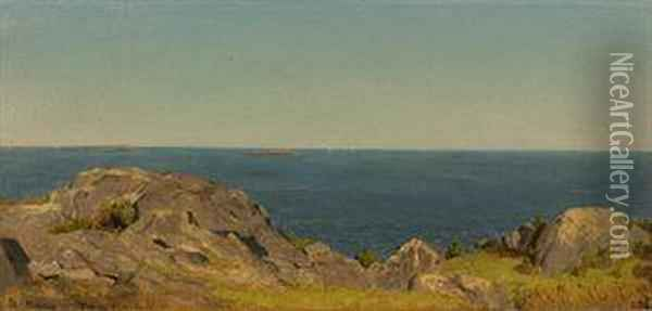 A Sketch At Manchester, Massachusetts Oil Painting - Sanford Robinson Gifford