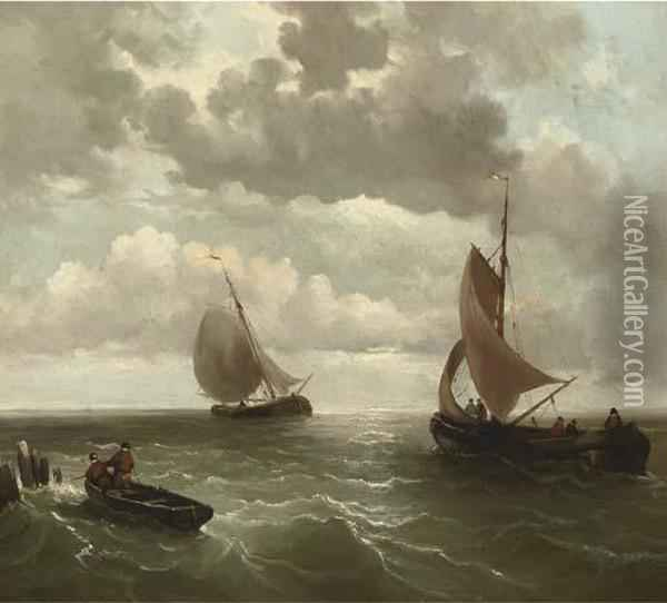 Setting Out To Sea Oil Painting - Willem Jun Gruyter