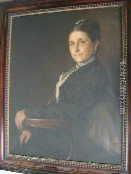 Portrait De Dame Oil Painting - Karl Friedrich Gsur