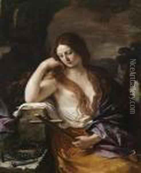 Saint Mary Magdalene Oil Painting - Guercino