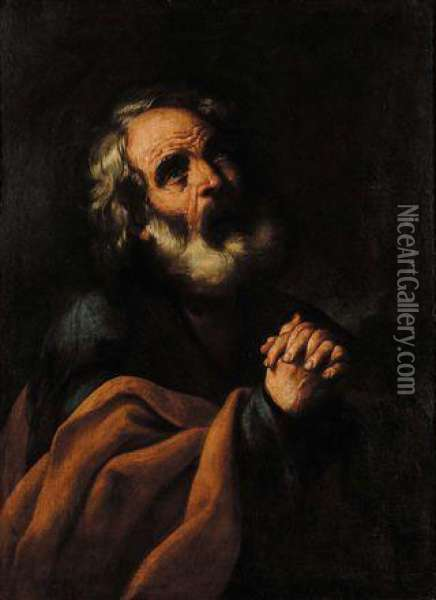 San Pietro Oil Painting - Guercino