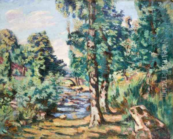 Le Pont Charrault Oil Painting - Armand Guillaumin