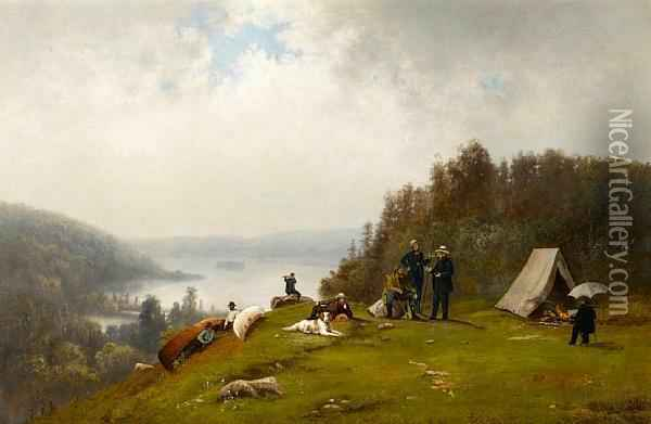 The Expedition Party Oil Painting - William Hahn