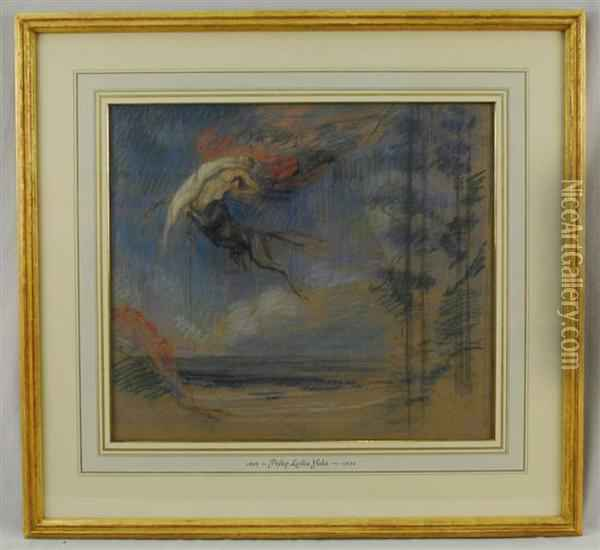 Study For Flight Of The Night Oil Painting - Philip Leslie Hale