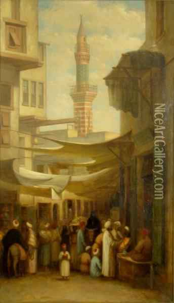 The Spice Bazaar Oil Painting - George Henry Hall