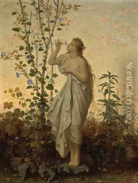 The Scent Of Spring Oil Painting - Jean-Louis Hamon