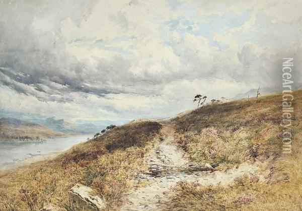 A Heathland Path Oil Painting - Henry Andrew Harper