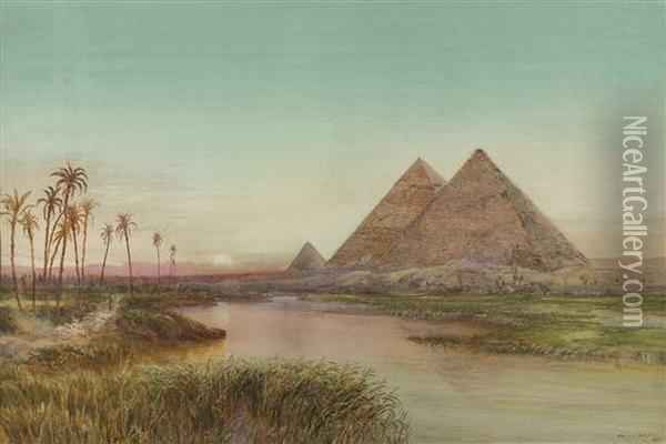 Pyramids Of Gizah Oil Painting - Henry Andrew Harper