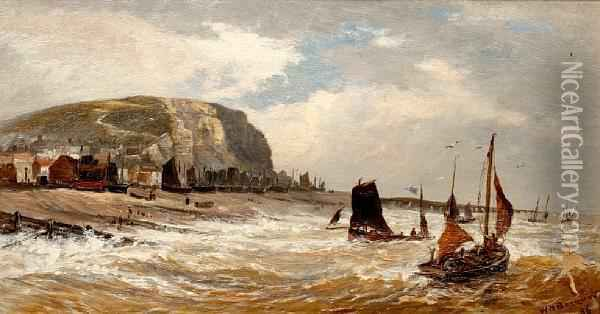 East Cliff, Hastings Oil Painting - William Howard Hart