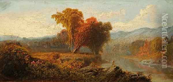 Hudson River Valley Oil Painting - William Howard Hart