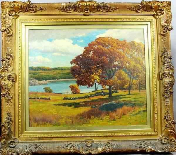 Autumn In New England Oil Painting - George Harvey
