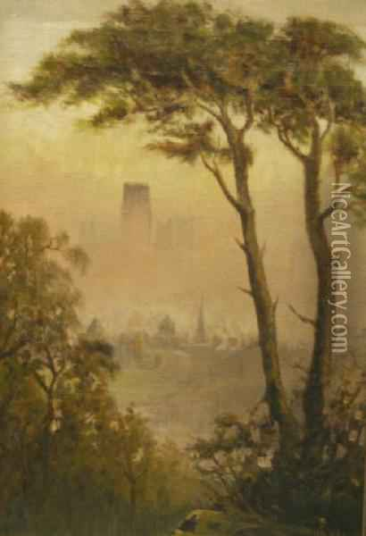 Durham Cathedral Oil Painting - John Haswell