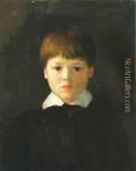 Portrait Of A Young Boy Oil Painting - Robert Henri
