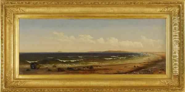 Long Beach Cohasset From Nature Oil Painting - Sylvester Phelps Hodgson