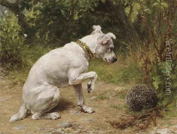 A Prickly Encounter Oil Painting - George Holmes
