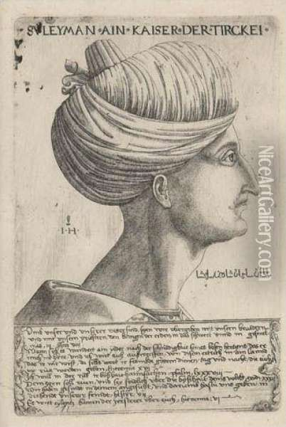 Portrait Of Suleiman The Magnificent Oil Painting - Hieronymus Hopfer