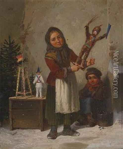 The Nutcracker Oil Painting - Theodor Hosemann