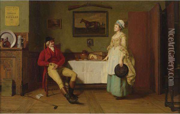 Roast Beef Of Old England Oil Painting - Edwin Hughes