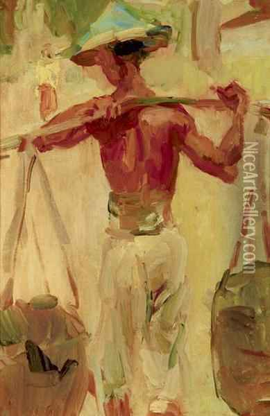 Water Carrier Oil Painting - Isaac Israels