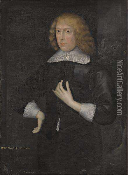 Portrait Of William Seymour, Marquess Of Hertford, Later Duke Of Somerset (1588-1660) Oil Painting - Gilbert Jackson