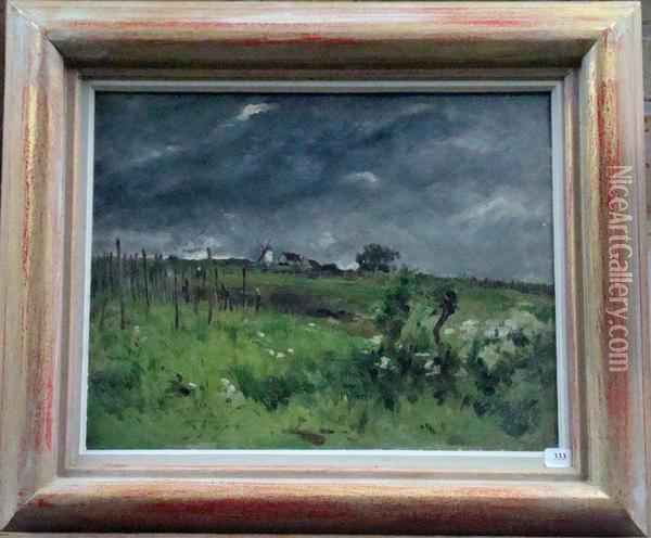 Paysage De Campagne Oil Painting - Sir Alfred East